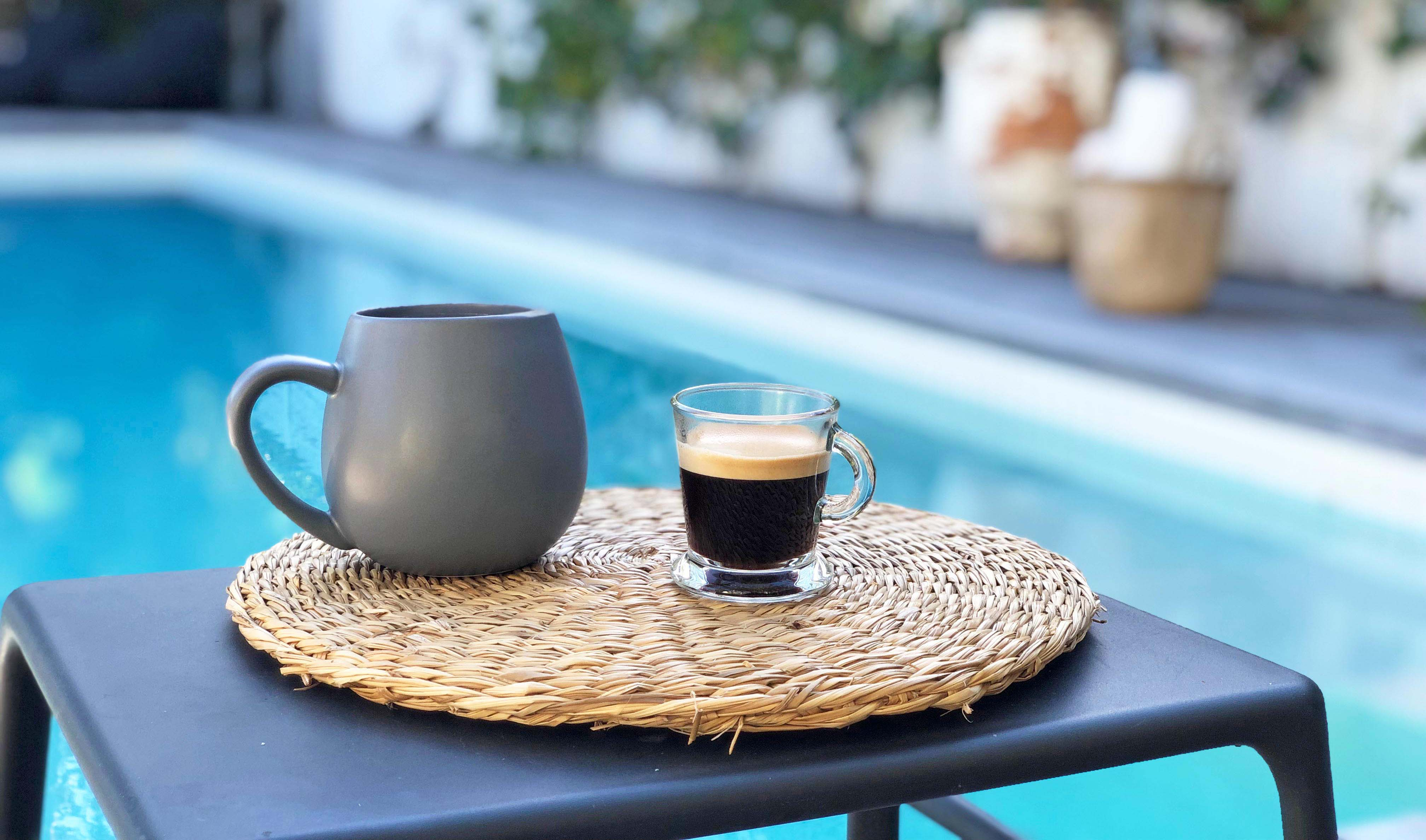coffee and pool cov